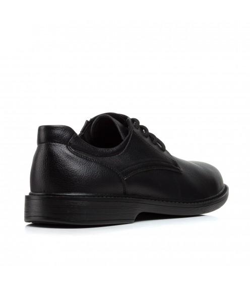 Туфлі чоловічі чорні на шнурках  meko melo