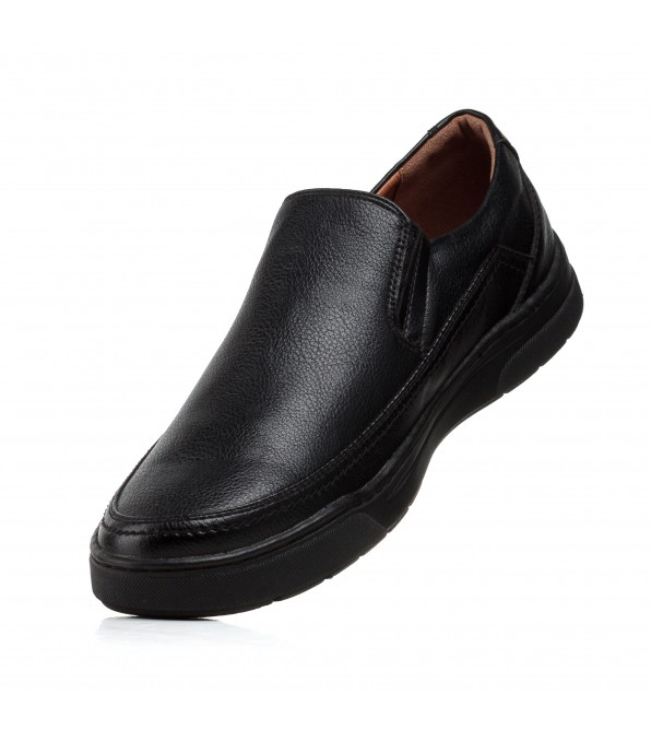 Туфлі чоловічі чорні з круглим носиком Meko Molo