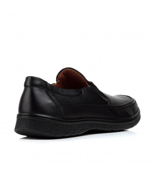 Туфлі чоловічі чорні без застібки Meko Melo