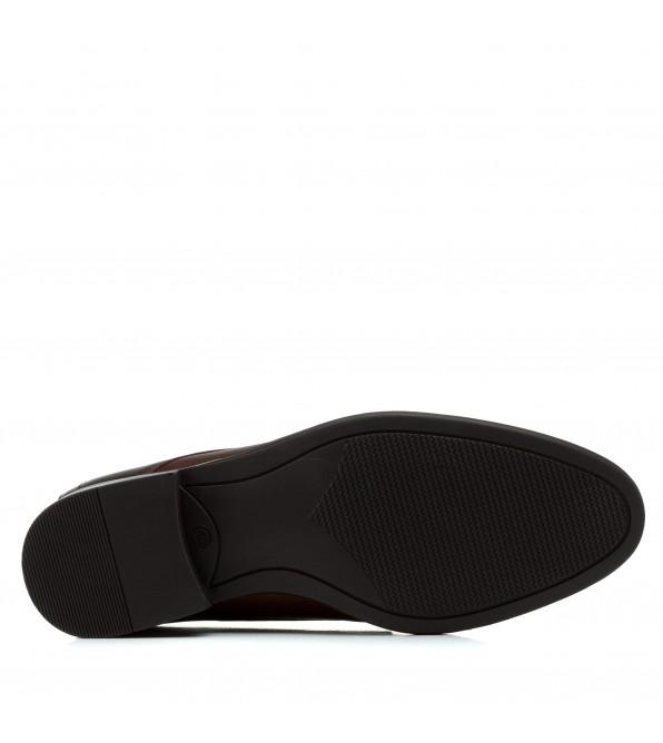 Туфлі чоловічі шкіряні коричневі з перфорацією Tapi коричневі на шнурівках