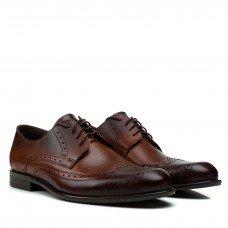 Туфли мужские кожаные коричневые с перфорацией Tapi