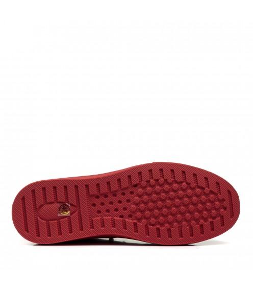 Кеди чоловічі червоні на зручній підошві модні стильні на шнурівках