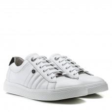 Кеды мужские кожаные классические Brionis белые модные молодежные на шнуровке