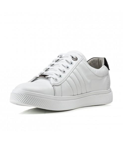Кеди чоловічі шкіряні класичні Brionis білі модні молодіжні на шнурівках
