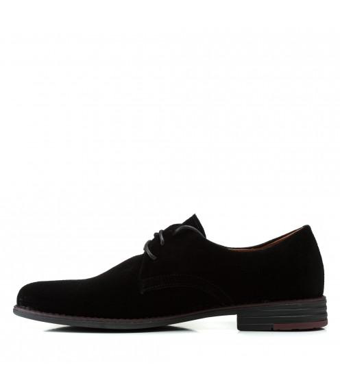 Туфлі чоловічі замшеві з бордовим декором Zlett