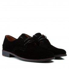 Туфли мужские замшевые с бордовым декором Zlett