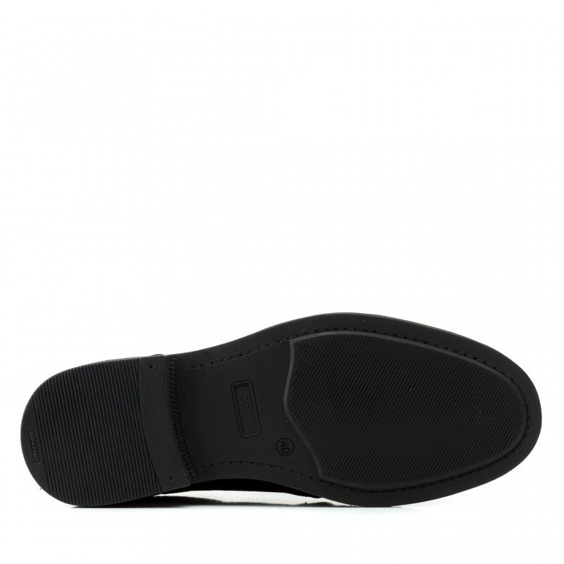 Туфлі чоловічі замшеві повсякденні Zlett чорні на шнурівках