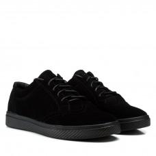 Кеды мужские замшевые классические Zlett черные на шнуровке