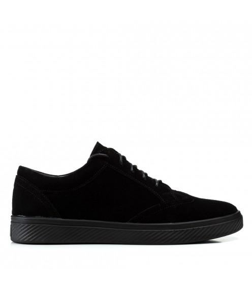Кеди чоловічі замшеві класичні Zlett чорні на шнурівках