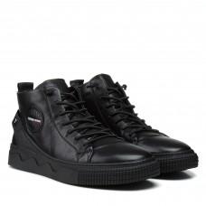 Кеды мужские черные на шнурках Lifexpert