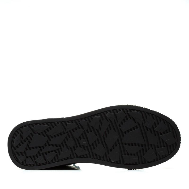 Кеди чоловічі чорні на шнурках Lifexpert