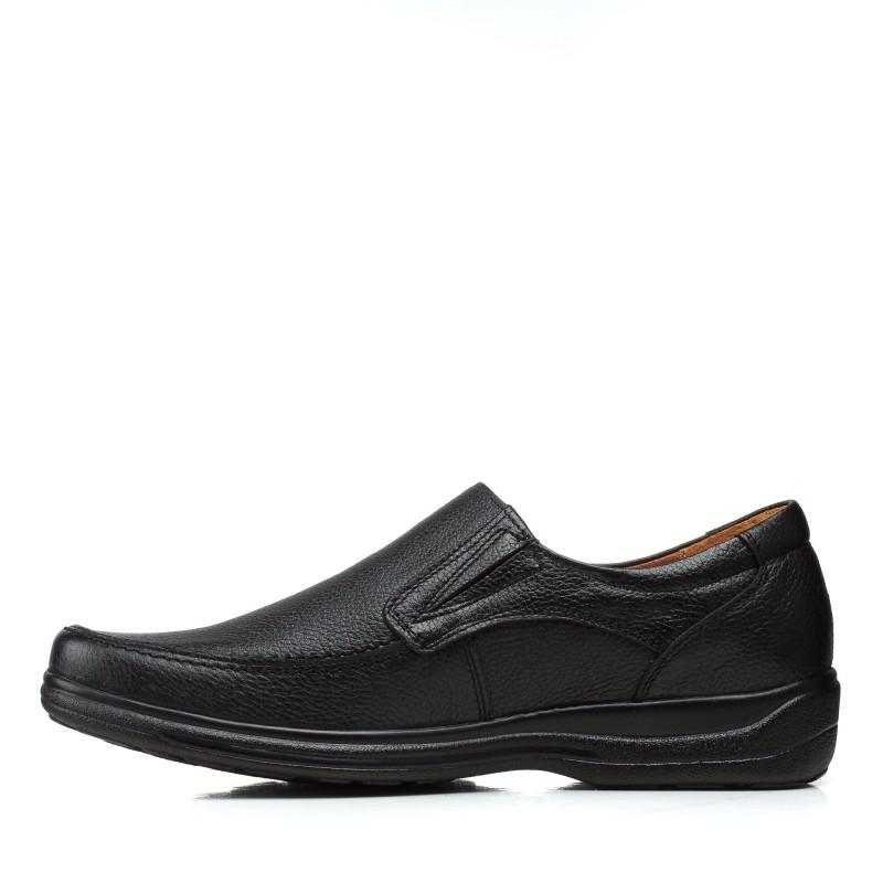 Туфлі чоловічі шкіряні чорні  без шнурків Zlett