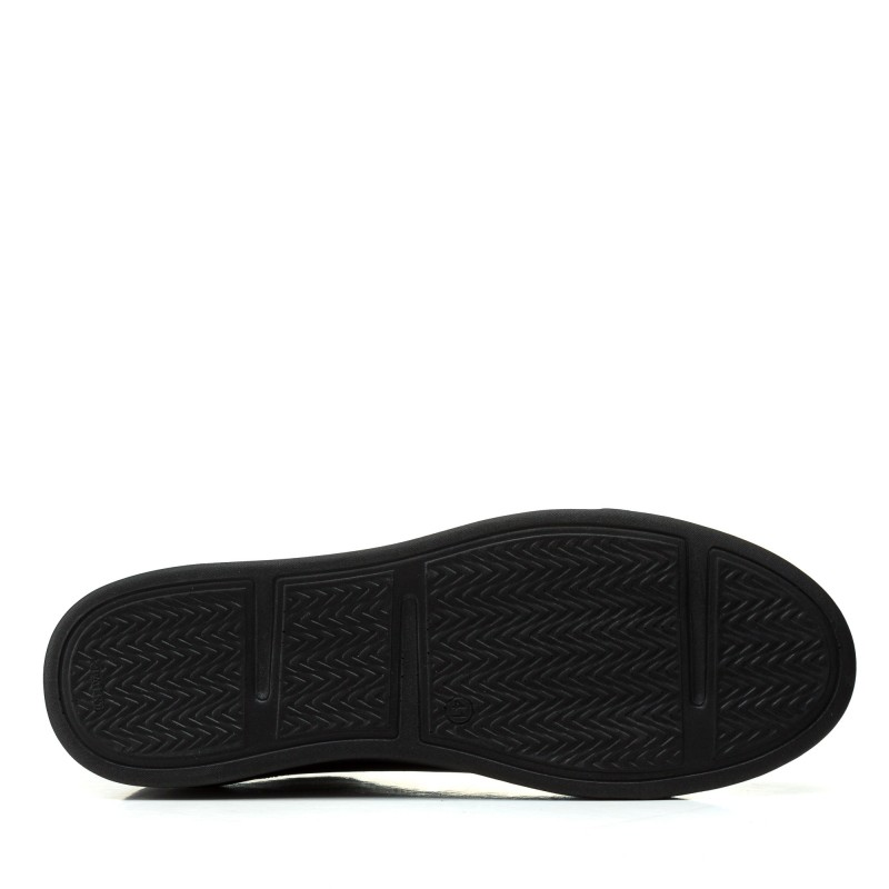 Кеди чоловічі шкіряні чорні на шнурках BRIONIS