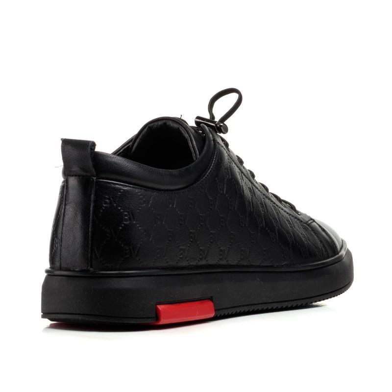 Туфлі чоловічі чорні шкіряні спортивні Boss Victor