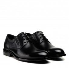Туфли мужские черные кожаные на шнуровке Boss Victor