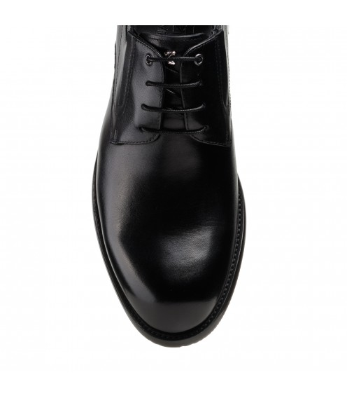 Туфлі чоловічі чорні шкіряні на шнурівках Boss Victor