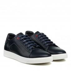 Туфли кожаные темно-синие Brionis