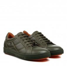 Туфлі шкіряні зелені Brionis