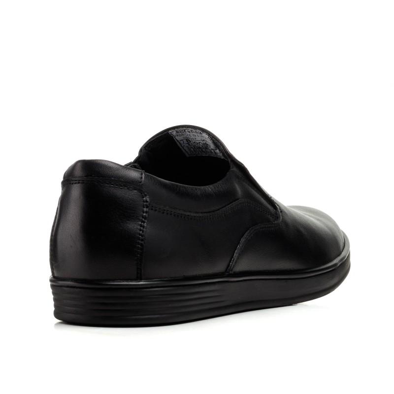 Туфлі чоловічі чорні шкіряні класичні Brionis