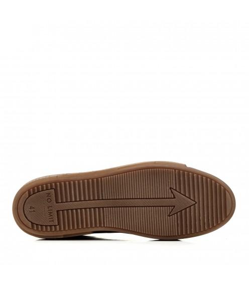 Кеди шкіряні коричневі на плоскій підошві Brionis