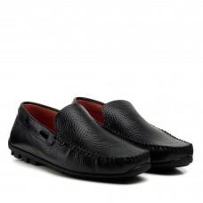Мокасины мужские кожаные черные Zlett