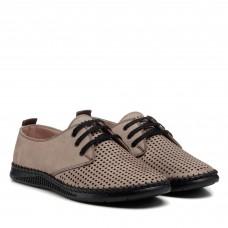 Туфли с перфорацией бежевые altura