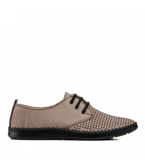 Туфлі з перфорацією бежеві altura