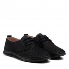 Туфли черные с перфорацией altura