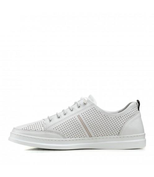 Туфлі чоловічі білі літні altura