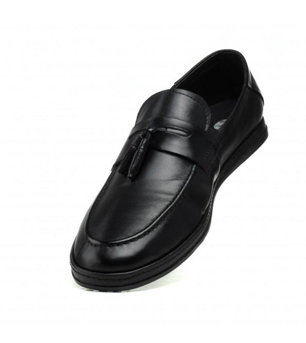 Туфлі шкіряні чорні Pavi