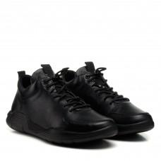 Кроссовки мужские черные кожаные Rondo