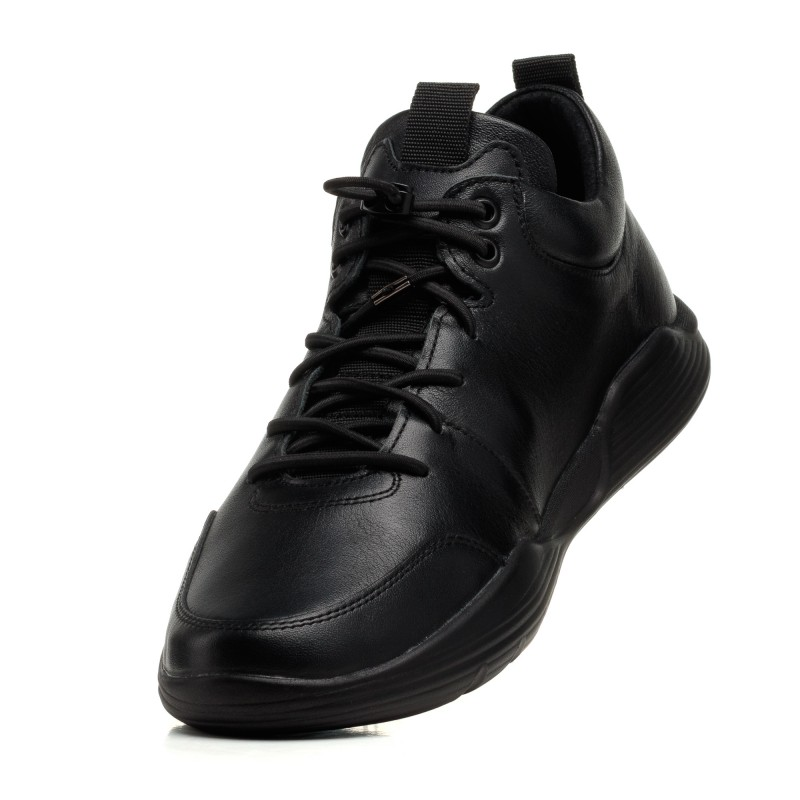Кросівки чоловічі чорні шкіряні  Rondo