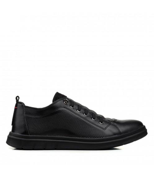 Туфлі чоловічі шкіряні чорні Maxusshoes