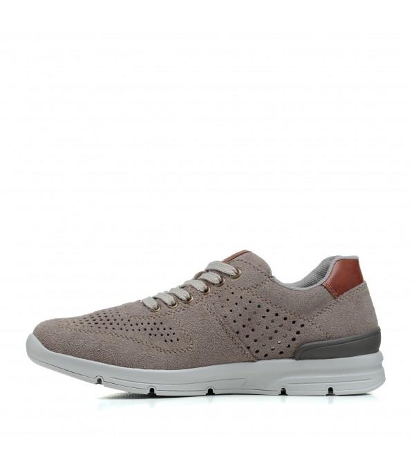 Туфлі чоловічі замшеві літні Rieker