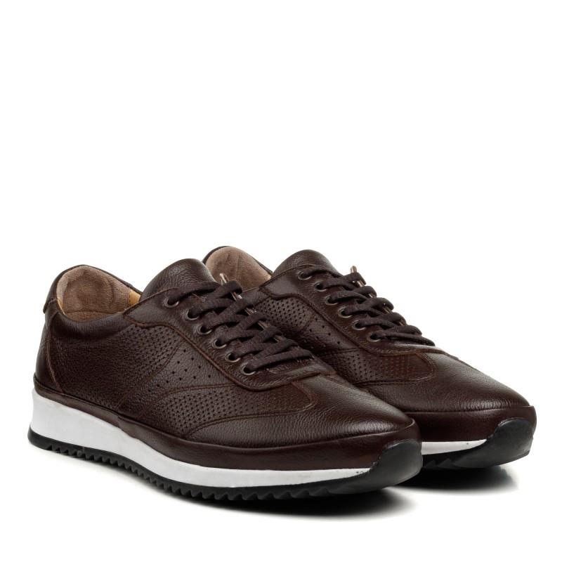 Кросівки чоловічі шкіряні коричневі Atabey