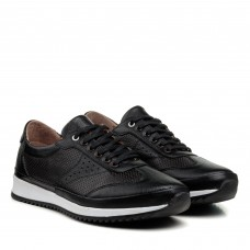 Кроссовки мужские черные кожаные Atabey