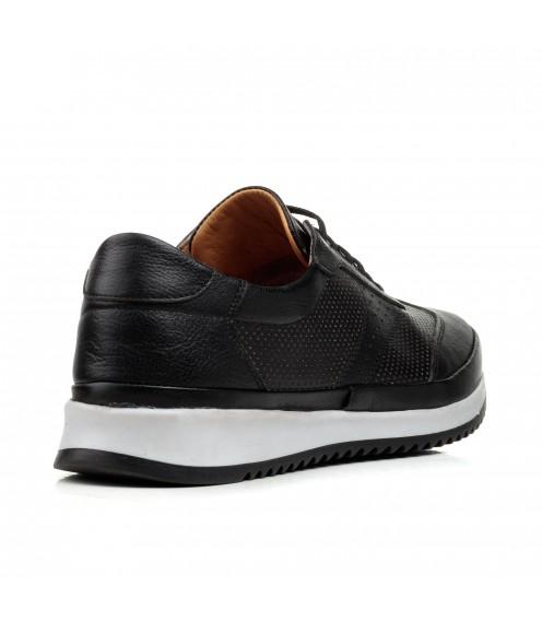 Кросівки чоловічі чорні шкіряні Atabey