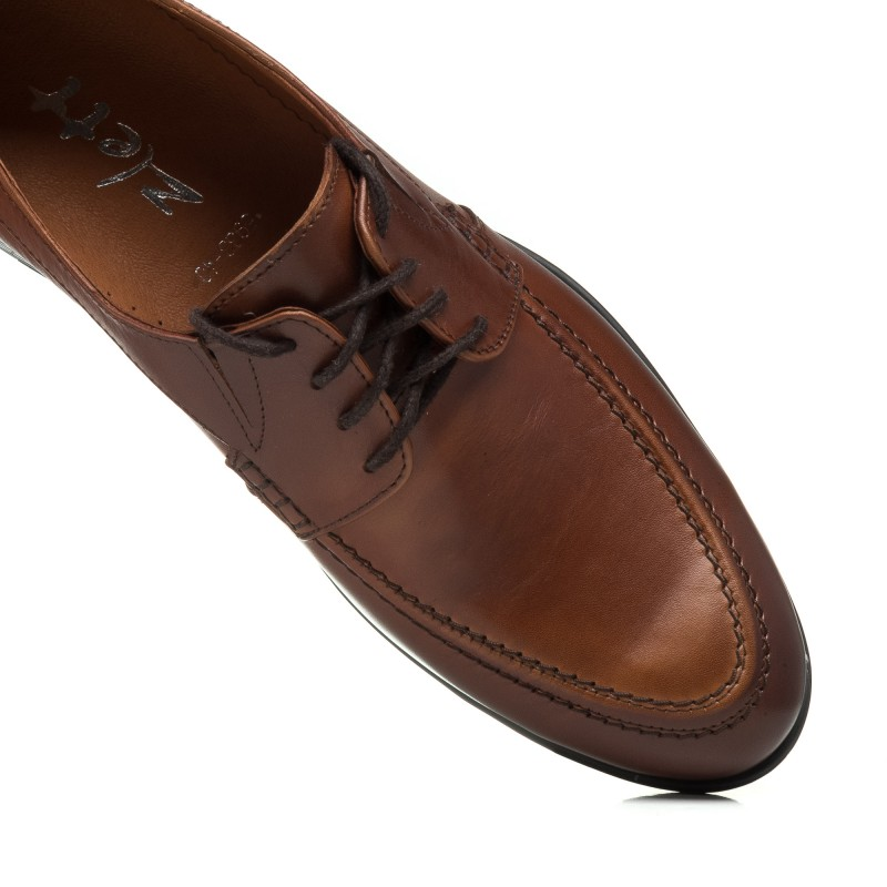 Туфлі чоловічі шкіряні коричневі Zlett