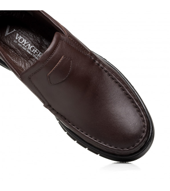 Туфлі чоловічі шкіряні коричневі Voyager