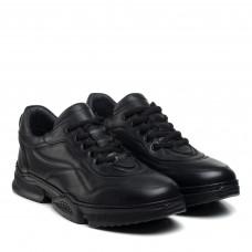 Кроссовки мужские кожаные черные PANDEW
