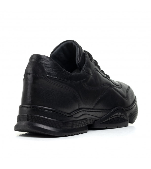 Кросівки чоловічі шкіряні чорні PANDEW