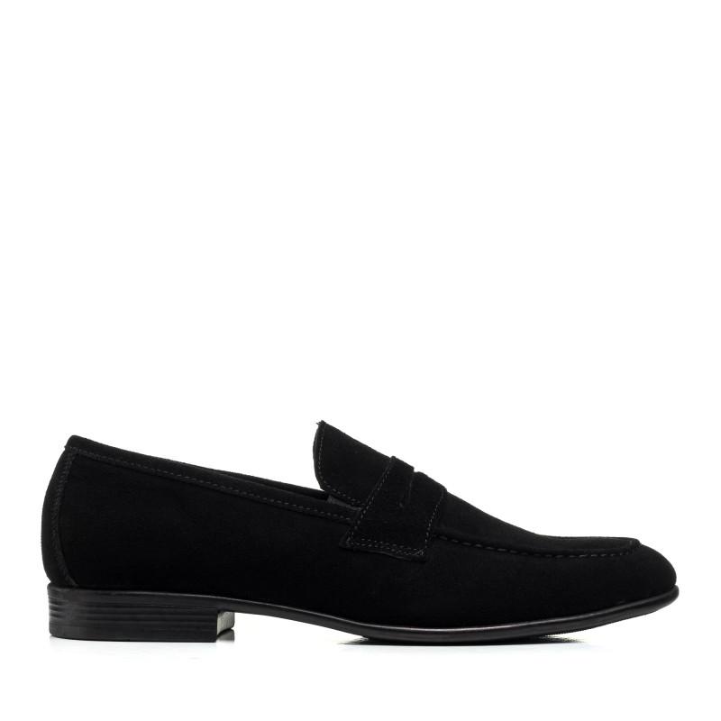 Туфлі чоловічі замшеві чорні El passo