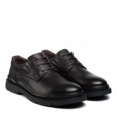 Туфли мужские кожаные повседневные коричневые KOMCERO