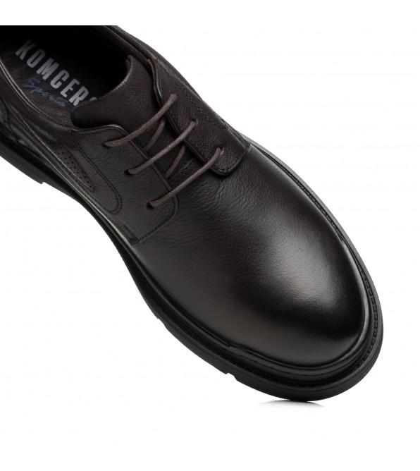 Туфлі чоловічі шкіряні повсякденні коричневі KOMCERO