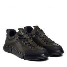 Туфли мужские кожаные зеленые KOMCERO