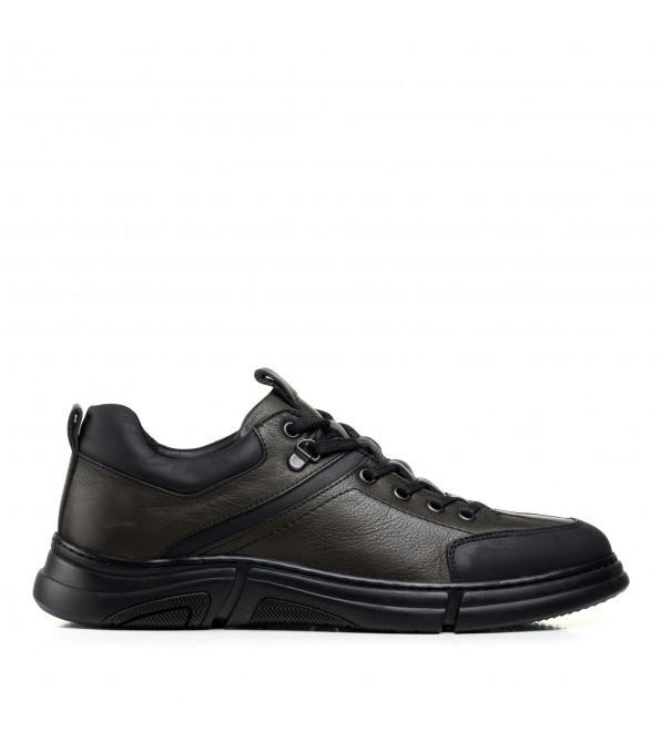 Туфлі чоловічі шкіряні зелені KOMCERO