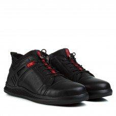 Ботинки мужские кожаные зимние черные Zumer