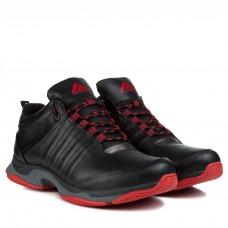 Кросівки чоловічі шкіряні спортивні чорні Extrem