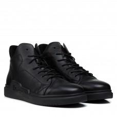 Ботинки мужские кожаные зимние черные Kadar