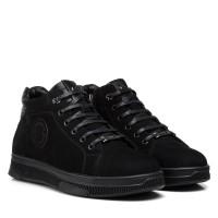 Ботинки мужские замшевые черные Brionis